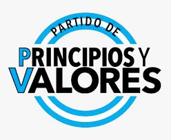 """Comunicado del partido argentino """"Principios y Valores"""", de Marcelo Gullo."""